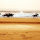 Beach races on Ballybunion beach in Ireland by morrbyte