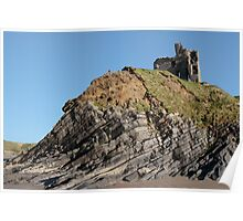 ballybunion castle on the cliff Poster