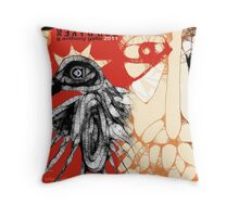 reaching for raven 5 Throw Pillow