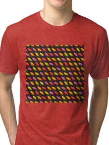 Tilted Autumn Leaves Pattern Tri-blend T-Shirt