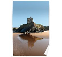 Ballybunions castle on the cliffs edge Poster