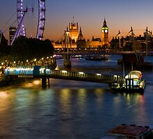 London Icons on the River Thames - England by Yen Baet