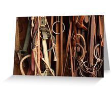 Tack Equipment Greeting Card