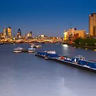 View of London from Waterloo Bridge - England by Yen Baet