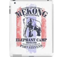 Mekong Expedition - Elephant Camp - Thailand Flag iPad Case/Skin