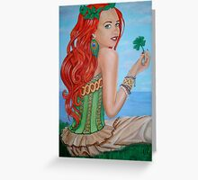Julia's Four Leaf Clover Greeting Card