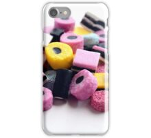 Old Fashioned Retro Sweet Shop Pile of Colourful Liquorice Sweets iPhone Case/Skin