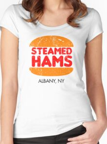 Retro Steamed Hams Women's Fitted Scoop T-Shirt