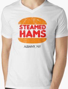 Retro Steamed Hams Mens V-Neck T-Shirt