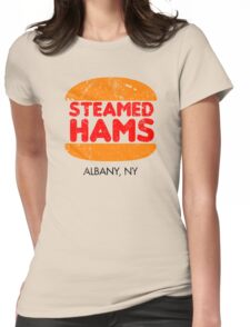 Retro Steamed Hams Womens Fitted T-Shirt