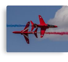 Red Arrows Synchro Pass Canvas Print