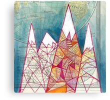 The Geometry of Geography Canvas Print
