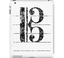 Tenor Clef Vintage Black iPad Case/Skin