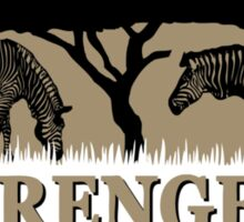 Zebras in Serengeti Sticker