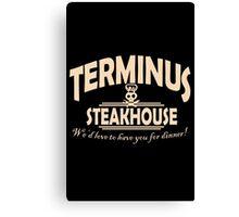 Terminus Steakhouse geek funny nerd Canvas Print