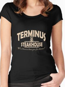 Terminus Steakhouse geek funny nerd Women's Fitted Scoop T-Shirt