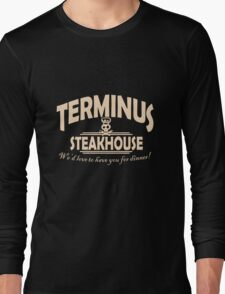 Terminus Steakhouse geek funny nerd Long Sleeve T-Shirt