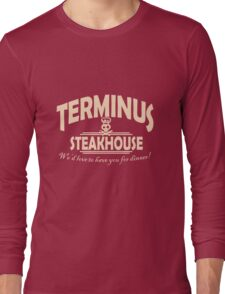 Terminus Steakhouse geek funny nerd Long Sleeve T-Shirt