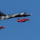 Avro Vulcan & Red Arrows flypast RIAT 2015 by Kevin Tappenden