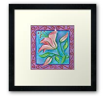 FLOWERTIME 2 - AQUAREL AND COLOR PENCILS Framed Print