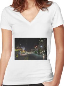 Union Station near dawn Women's Fitted V-Neck T-Shirt