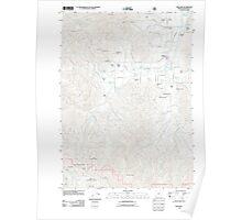 USGS Topo Map Oregon Williams 20110713 TM Poster