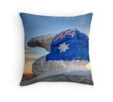 "Bear ""N"" it for Australia... Throw Pillow"