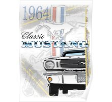Classic '64 Mustang Poster