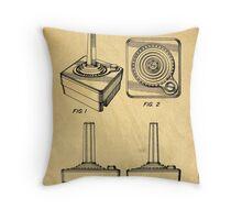 Original Patent for Atari Video Game Controllers Throw Pillow