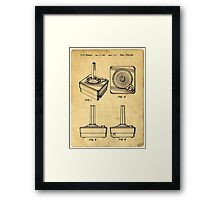 Original Patent for Atari Video Game Controllers Framed Print