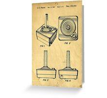 Original Patent for Atari Video Game Controllers Greeting Card
