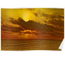 South Pacific Sunset Poster