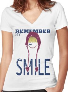 Remember my Smile Women's Fitted V-Neck T-Shirt
