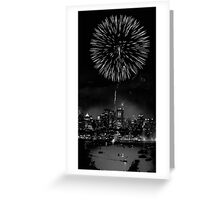 Night Flower over Smokey City Greeting Card