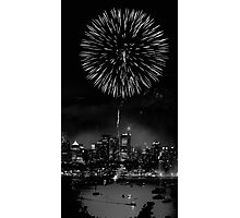 Night Flower over Smokey City Photographic Print