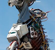 Recycled Waste Electrical and Electronic Equipment Robot Man by HotHibiscus