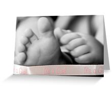 It's A Girl! Baby Feet Greeting Card