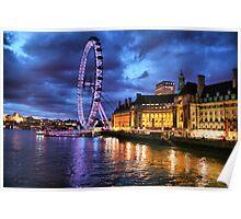 London Eye lighted  Poster