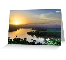 Coquette Sunset - Innisfail, North Queensland Greeting Card