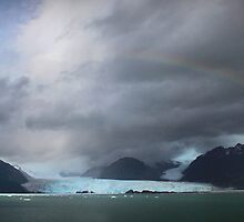 Rainbow over Amalia glacier  by Robyn Lakeman