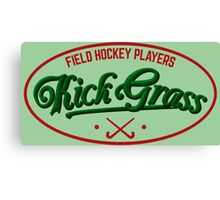 Field Hockey Players Kickgrass Canvas Print