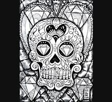 Diamond Skull (b&w) Unisex T-Shirt