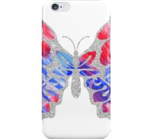 Red, White, and Blue Watercolor Butterfly iPhone Case/Skin