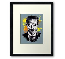 Jim Moriarty + paint Framed Print