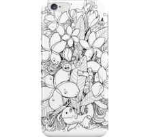 Flower and Monsters - Frangipani iPhone Case/Skin