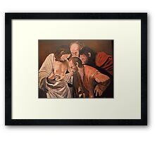 Thomas from Michelangelo Caravaggio Framed Print