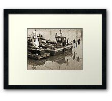 Old Moorings Framed Print