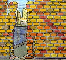 318 - IF ONLY THESE BRICKS COULD TALK IV - DAVE EDWARDS - COLOURED PENCILS & INK - 2011 by BLYTHART