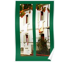 diptych of two adjoining Italian windows Poster