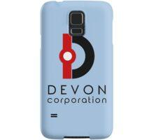 Devon Corporation Logo (in Black) Samsung Galaxy Case/Skin